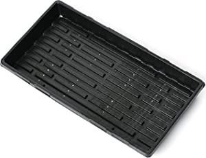 1020 Microgreens Growing Trays with Holes 5 Pack - Heavy Duty Plastic Plant Trays for Indoors Seed Starting - Propagation Tray for Microgreens & Wheatgrass Sprouting