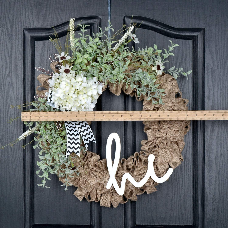 Wreath Summer wBurlap Hydrangea Wreath Grapevine Wreath Front Door Rustic Grapevine Wreath Grapevine Wreath Wreath Summertime