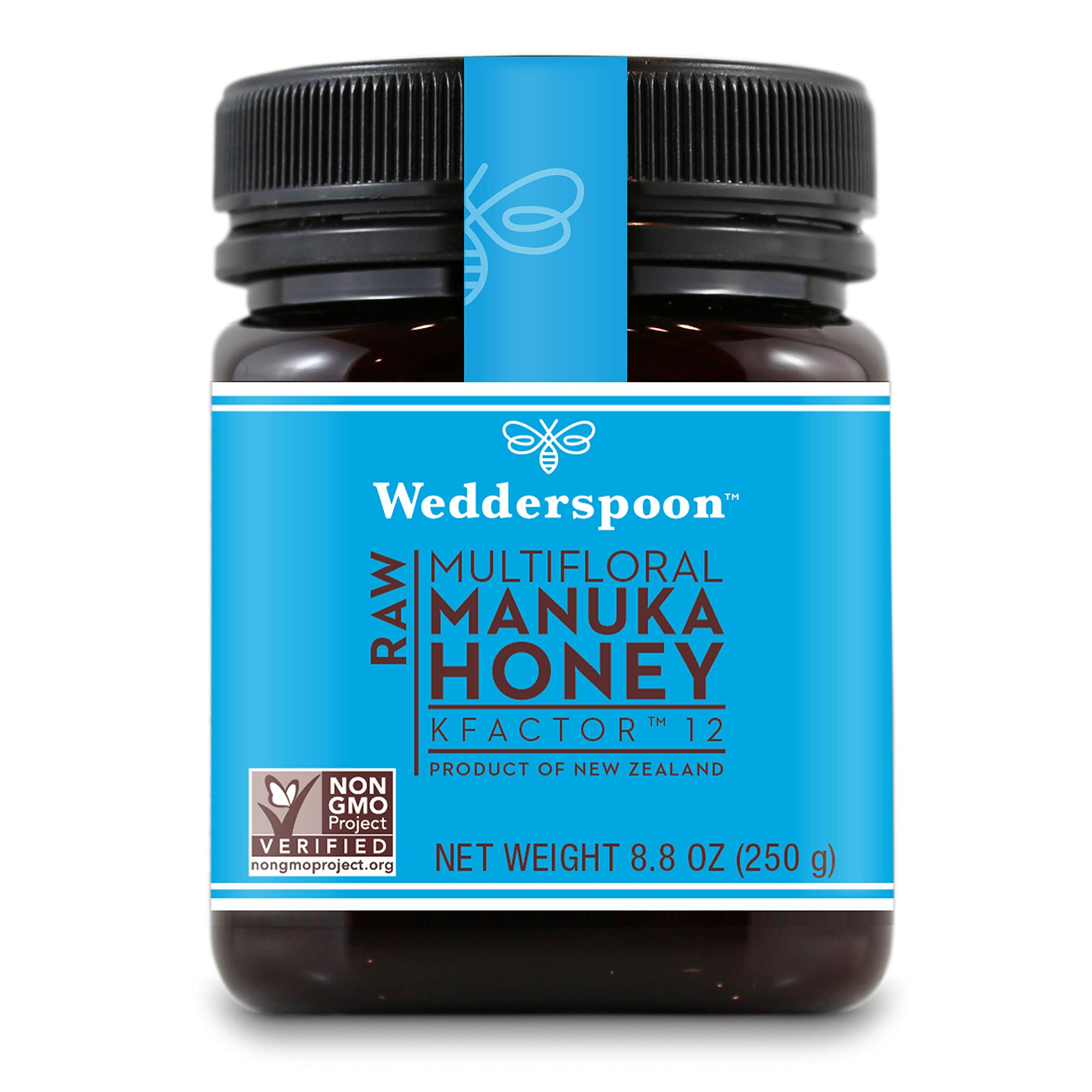Wedderspoon Raw Premium Manuka Honey KFactor 12, 8.8 Oz, Unpasteurized, Genuine New Zealand Honey, Multi-Functional, Non-GMO Superfood