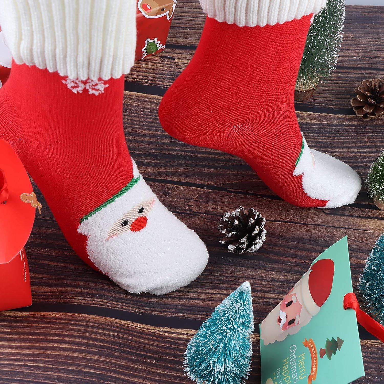 6 Pairs Boys Girls Christmas Socks Kids Warm Socks Christmas Holiday Fun Winter Socks