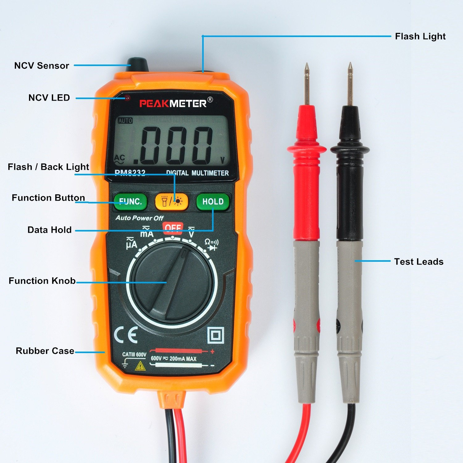 Amazon com innova 3320 auto ranging digital multimeter automotive - Digital Multimeter Peakmeter Pm8232 Mini Auto Ranging Digital Multimeter Smart Dmm Resistance Test Meter Measure Ac Dc Voltage Tester With Test Leads