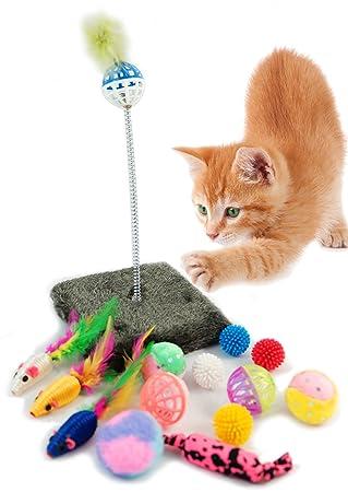 BPS® Paquete de Juguetes para Gatos Gatito Juguetes Interactivo ...