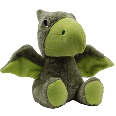 "Linzy Plush Pterodactyl Plush Dinosaur, Green, 9"""