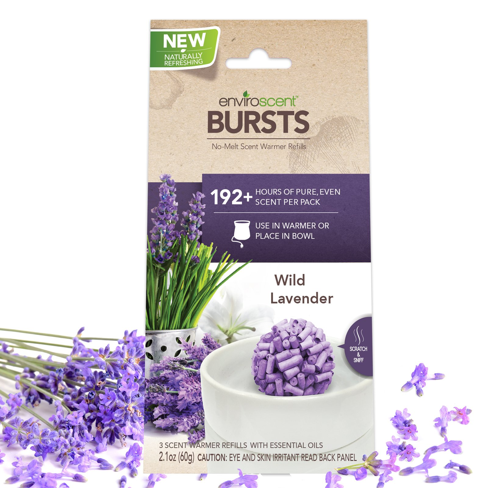 Enviroscent Bursts Aroma Diffusers, Wild Lavender Fragrance, Bag of 3