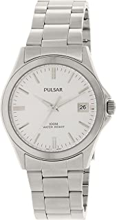 Mens Stainless Steel Dress Watch Silver Dial