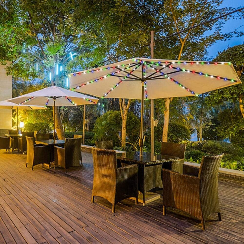 BOTER Umbrella Lights Patio LED String Lights Outdoor Battery Operated Bar Decor Commercial Use Waterproof