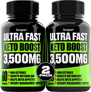 (2 Pack) Complete Keto Pills - Advanced Weight Management, Energy, and Appetite Support - Keto Fast BHB Exogenous Ketones Supplement for Improved Focus and Stamina - 120 Keto Diet Pills Total