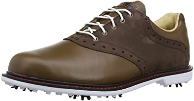 ee8f354763cdd Ashworth Mens Kingston Golf Shoes G54276 Khaki Medium Khaki Cardinal 8 UK
