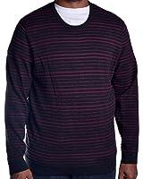 Alfani Men's Slim Fit Port Knit Stripe Pullover Sweater