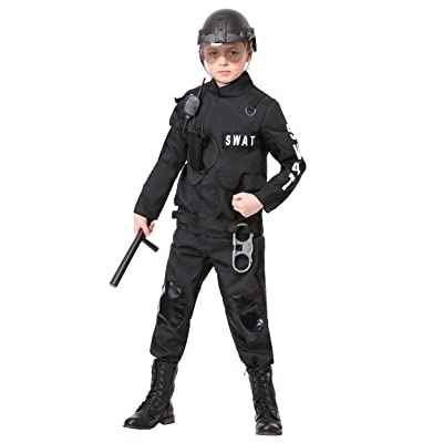 Kids SWAT Commander Costume - XS Black: Clothing