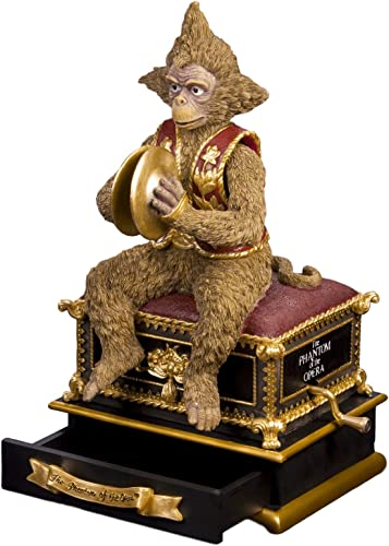 The San Francisco Music Box Company Phantom of The Opera Monkey with Hand Crank
