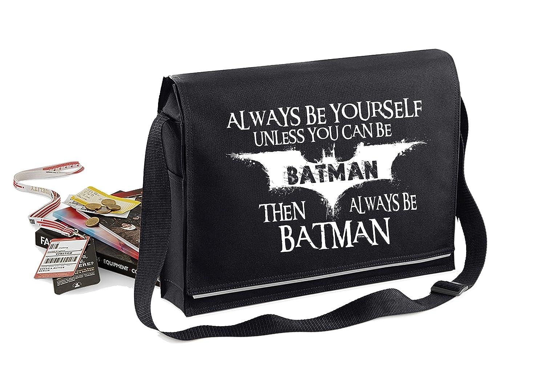 Always Be Batman-Unisex Funny Sayings Bagbase Conference Messenger Bag StarliteBags