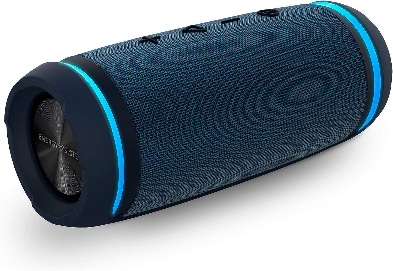 Energy Urban Box 7 BassTube Altavoz portátil con Sonido 360º, Bluetooth y Tecnología True Wireless (30 W, Resistente al Agua) - Azul Marino