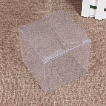 Clear Transparent Cube Favour Boxes various sizes