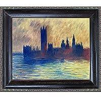 OverstockArt Monet London - Marco de Madera, diseño de Casas del Parlamento