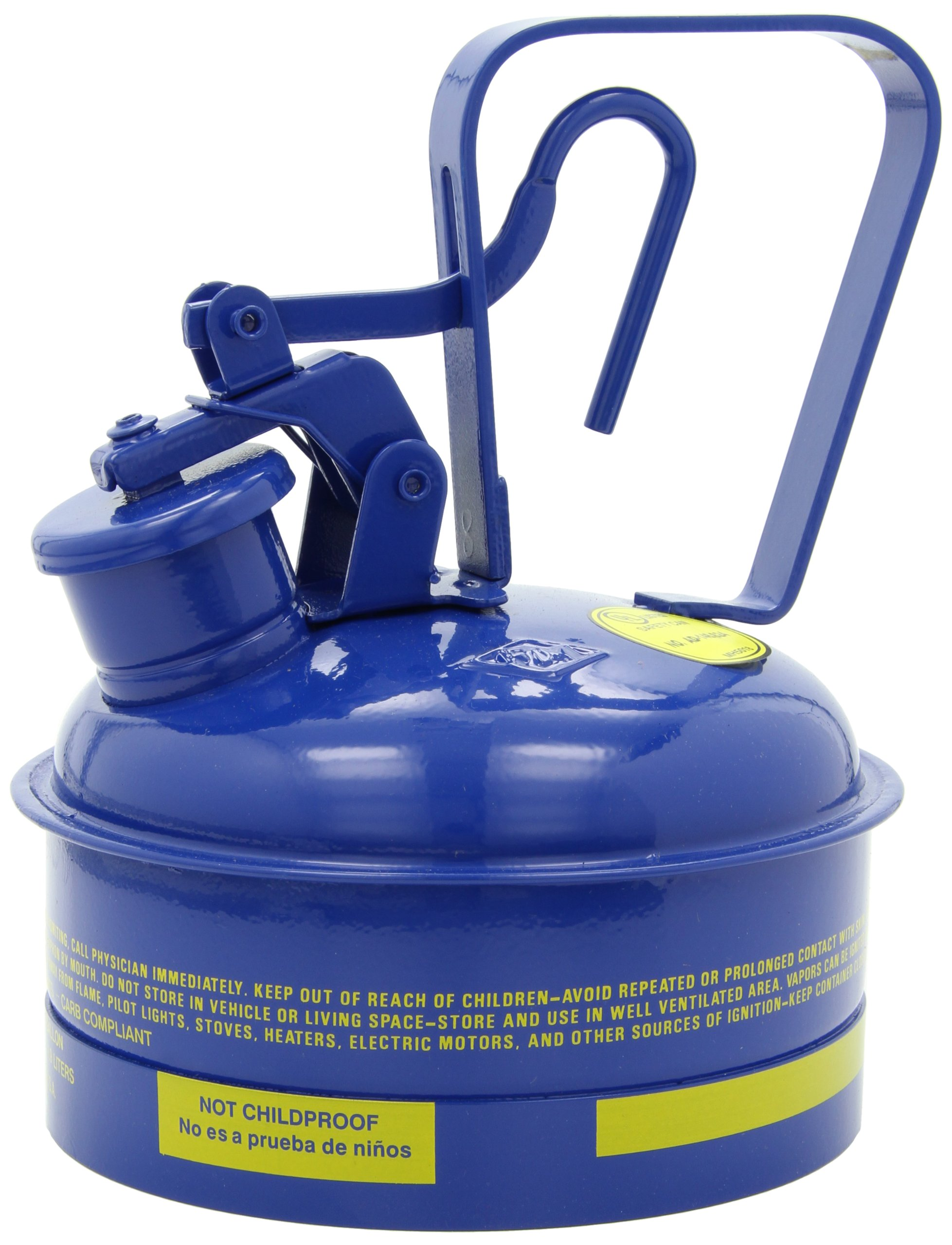 Eagle UI-50-SB Type I Metal Safety Can, Kerosene, 12-1/2'' Width x 13-1/2'' Depth, 5 Gallon Capacity, Blue