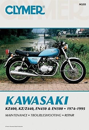 Amazon Com Clymer Repair Manual For Kawasaki Kz400 440 En450 500 74 95 Automotive