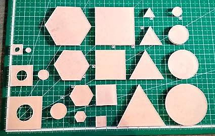 3d61cbe292674 Itajime Shibori Templates - 44 piece set - Square, Circle, Hexagon, and  Twinkle