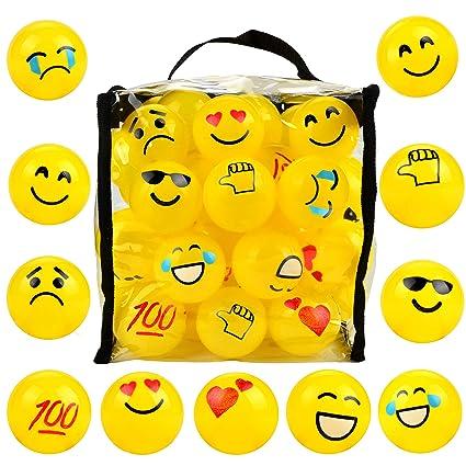Amazon.com: 50 emoji Pit bolas, bola Pit, a prueba de Crush ...