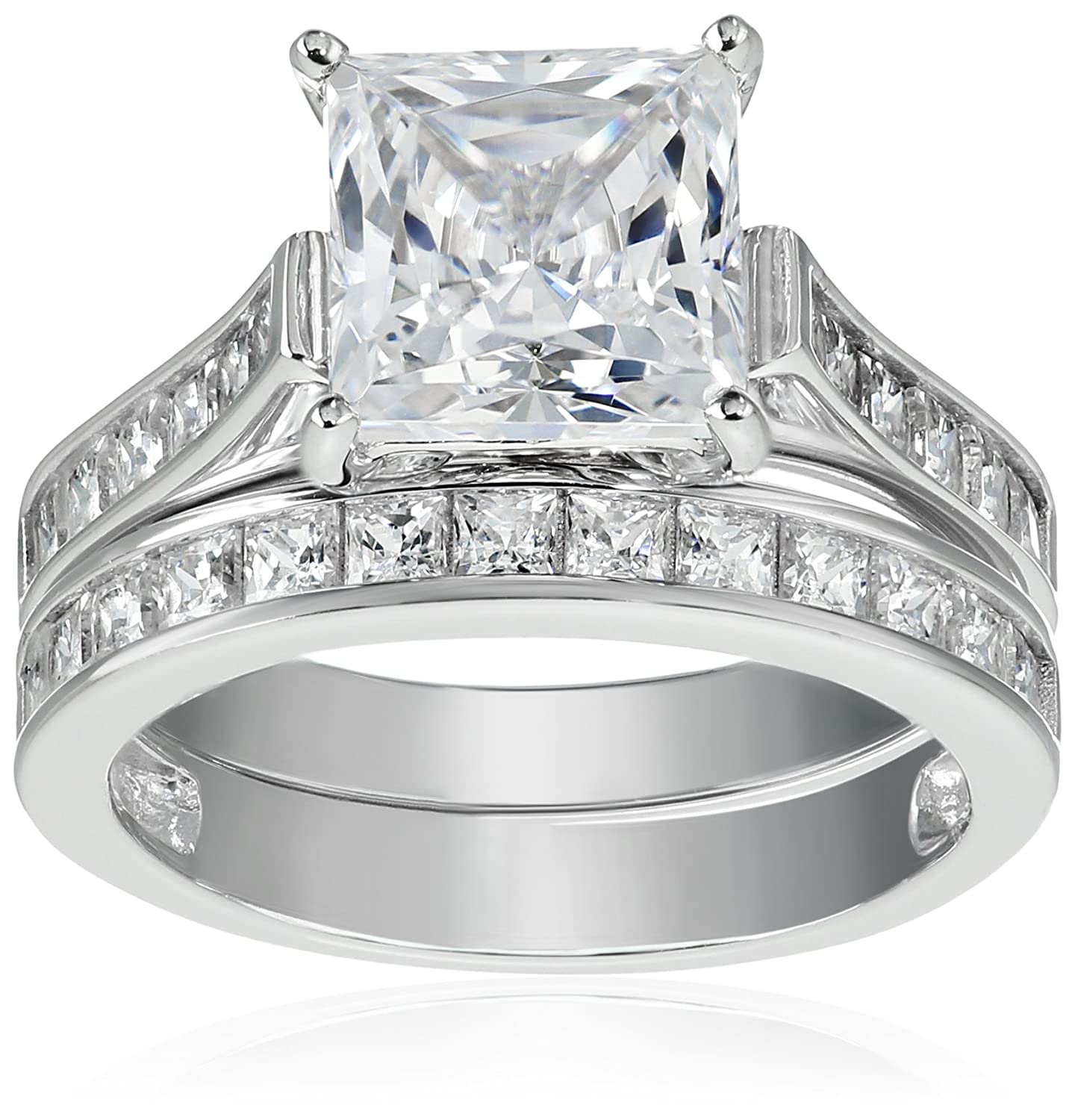 Sterling Silver Platinum-Plated Swarovski Zirconia Ring R2889000_120_060-Parent
