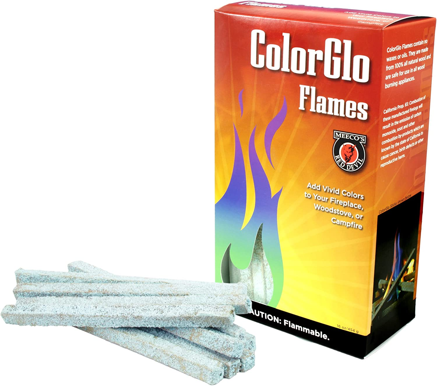 MEECOS RED DEVIL 88310 ColorGlo Flame Sticks MEECO MFG CO INC
