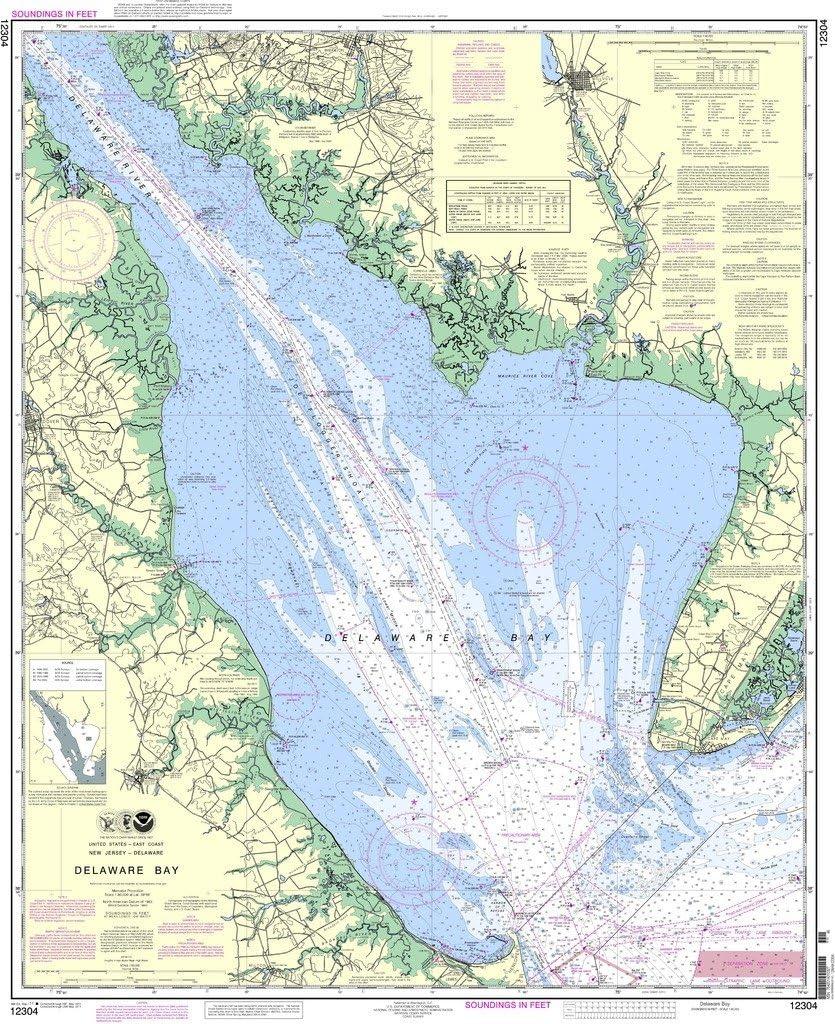 NOAA gráfico 12304: Bahía de Delaware: Amazon.es: Deportes y ...