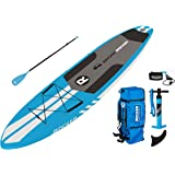 "iRocker ALL-AROUND Inflatable Stand Up Paddle Board 11' Long 32"" Wide 6"" Thick SUP Package"