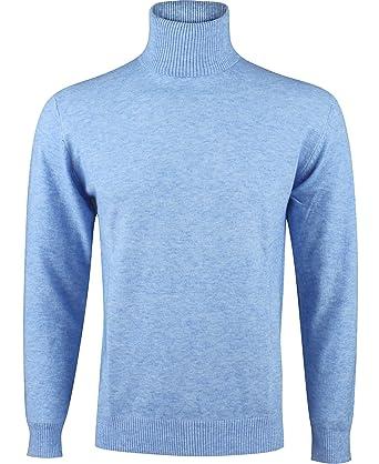 Yves Enzo - Pull col roulé - Homme - Bleu  Amazon.fr  Vêtements et ... b0c48a9aeb37