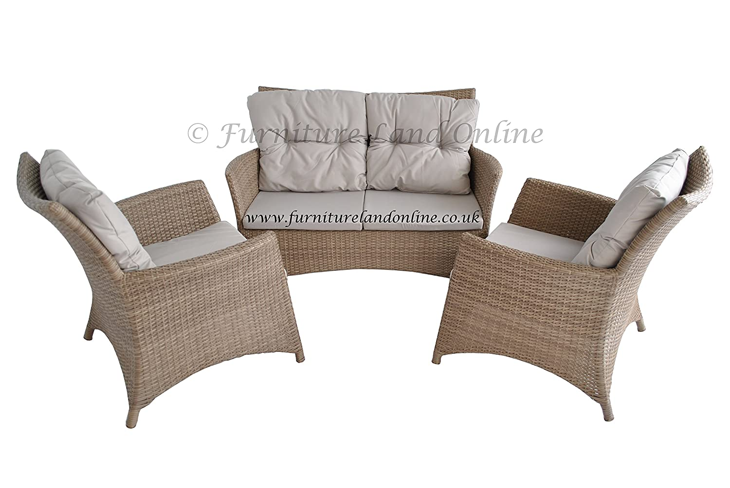Awesome Ideal Rattan Effect Garden Furniture Set Sofa And Two Evergreenethics Interior Chair Design Evergreenethicsorg