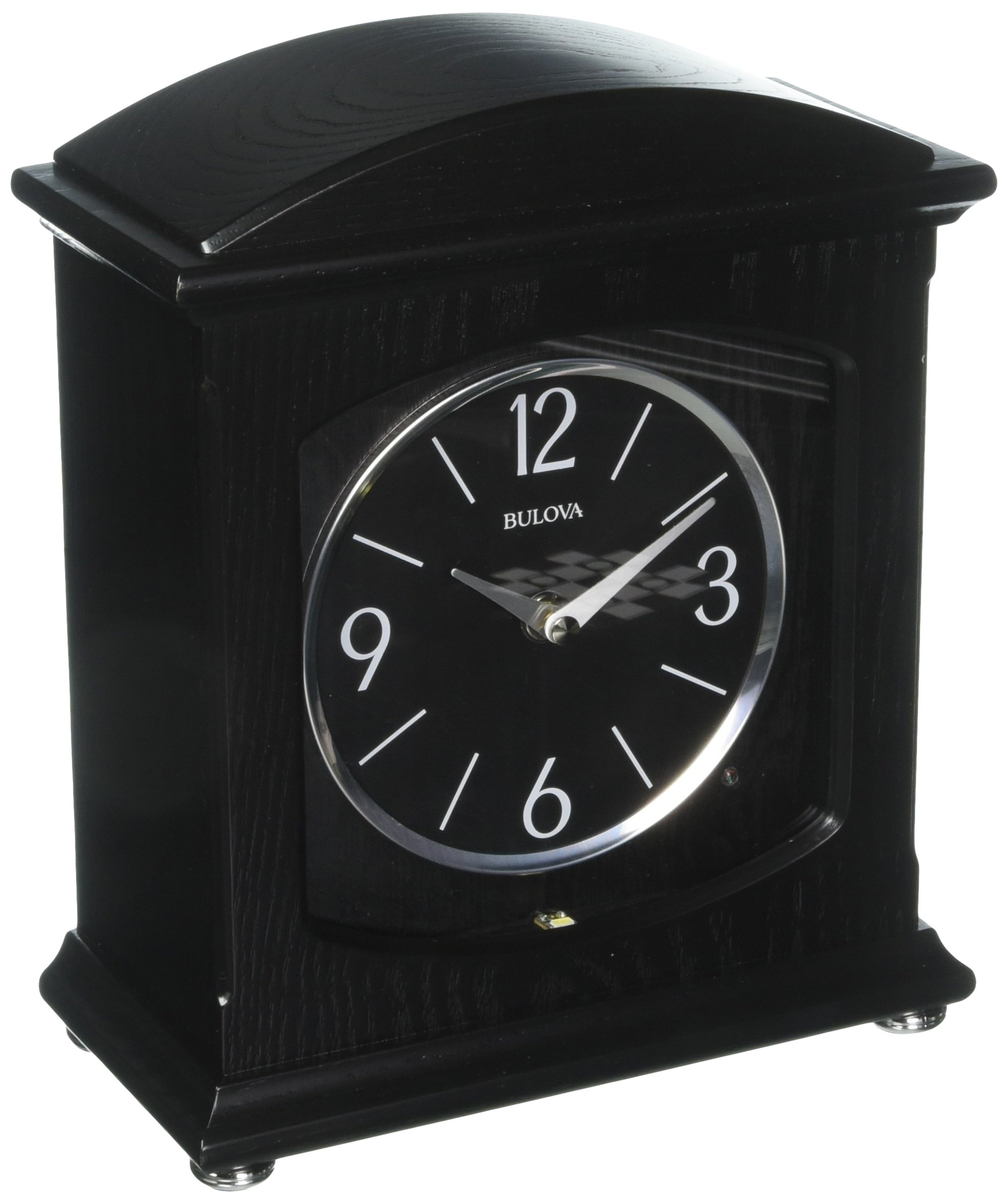 Bulova Glendale Mantel Clock, Black by Bulova