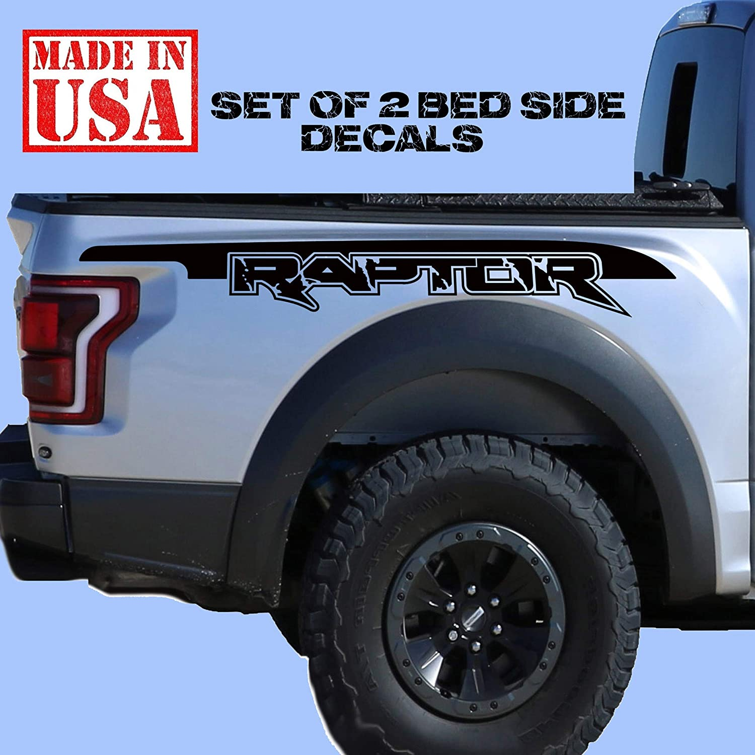 2018 FORD RAPTOR SVT F-150 TAILGATE LETTER OUTLINES VINYL STICKERS DECALS