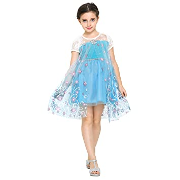 Katara Vestido de disfraz de cuento de hadas de Disney, para niñas de 7-