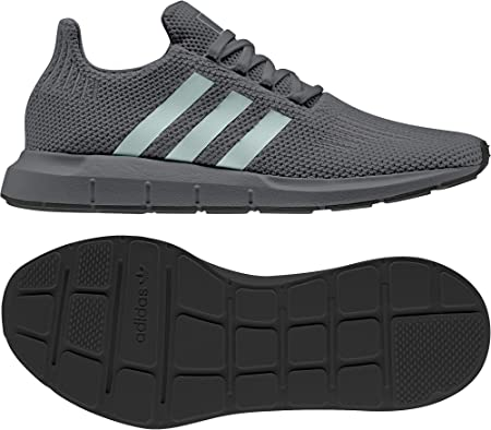 adidas Originals Swift Run, Night Grey-Ash Green-Core Black, 8,5