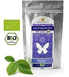100g Bio-Matcha-Tee CLASSIC von FLÜGELSCHWINGER, 100% Matcha ohne Zusätze, nach traditioneller Art in Steinmühlen gemahlen, Matcha, Pulver, DE-ÖKO-012 (100g)