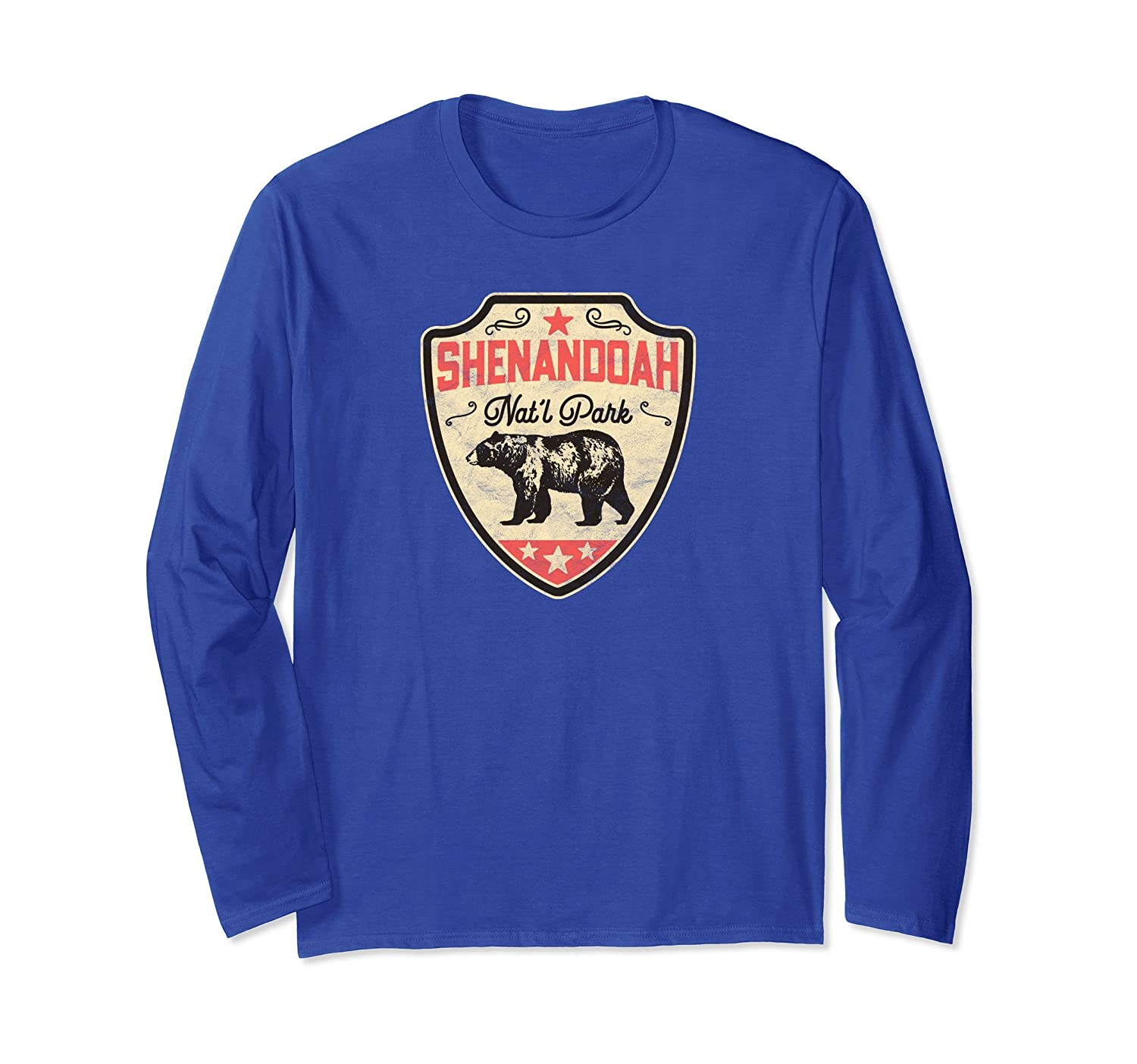 Vintage Shenandoah National Park Bear Long Sleeve Shirt-AZP