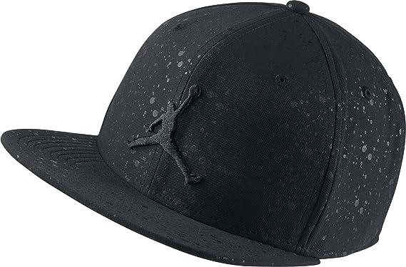 d0ac60cd85e9a8 Nike Mens Jordan Speckle Print Snapback Hat Black Black 821830-011 ...