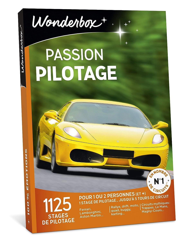 Wonderbox – Coffret cadeau PASSION PILOTAGE – 1125 stages de pilotages Ferrari, Lamborghini, Porsche, rallye, moto pour 1 à 3 personnes
