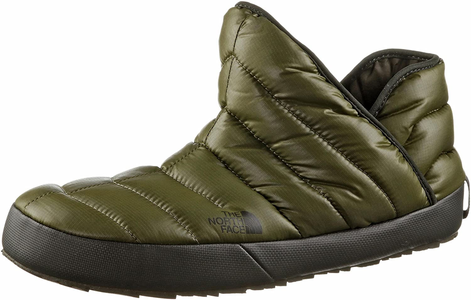 4675900be The North Face Men's Thermoball Traction Bootie - Shiny Burnt Olive Green,  UK 8