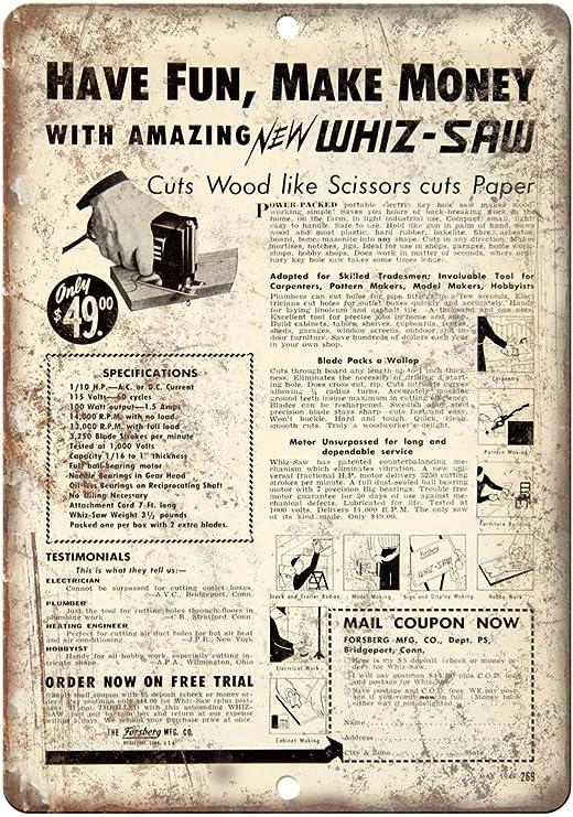Custom Kraze Milwaukee Electric Power Tools Workshop Ad Reproduction Metal Sign 8 x 12