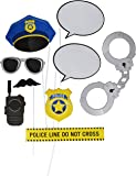 Creative Converting 329397 10-Piece Photo Booth Prop Kit, Police Party