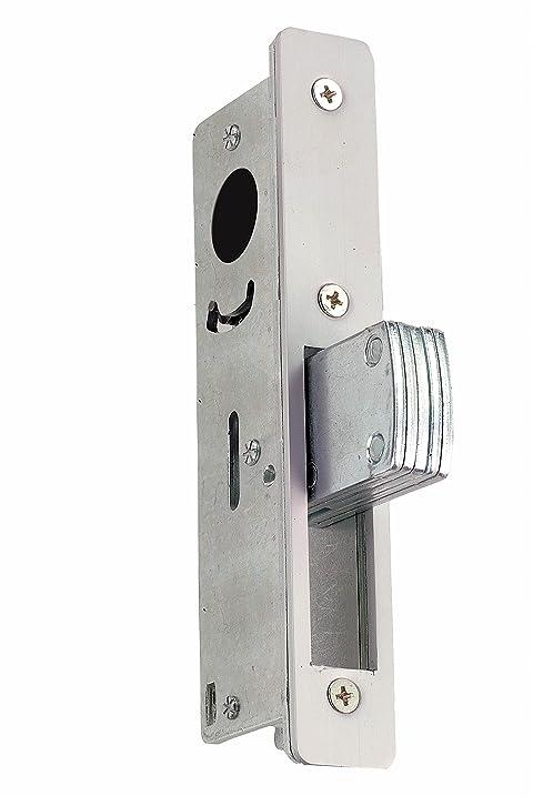 Global Door Controls 1-1/8 in. Aluminum Mortise Lock with Deadlock Function