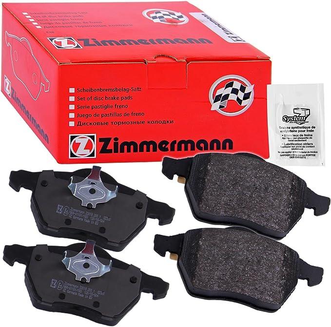 Zimmermann Bremsscheiben Scheibenbremse /Ø280mm Zimmermann Bremsbel/äge Bremsbelagsatz Kl/ötze vorne Vorderachse 500ml Bremsenreiniger