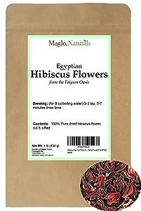 Hibiscus Tea 1LB (16Oz) Dried Hibiscus Flowers Herbal Tea (Cut / Sifted)