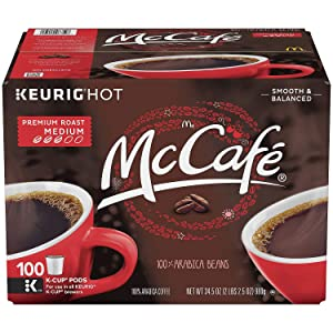 McCafe Premium Roast Coffee, K-CUP PODS, 100 Count (5 Pack) EWRBV