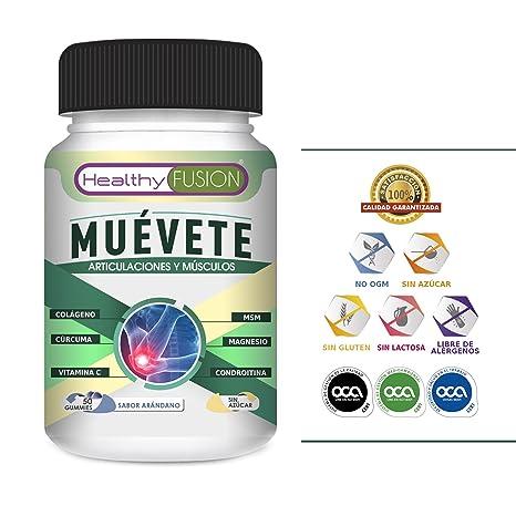 Muévete - Potente Cúrcuma Microencapsulada con Colágeno, Magnesio, Condroitina, MSM y Vitamina C