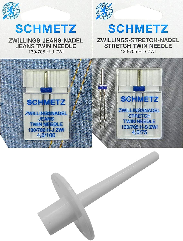 ZickZackNaehmaschine Z.Z.N. 2 portarrollos de Hilo + Aguja Doble ...