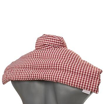 Saco cervical térmico de semillas (algodón orgánico rojo y blanco ...