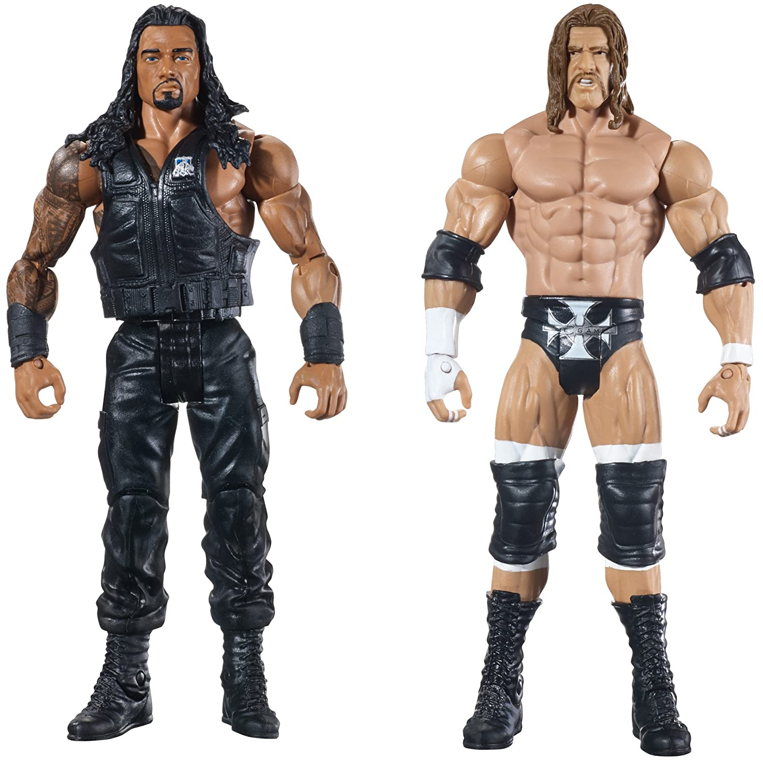 amazoncom wwe wrestlemania 31 roman reigns vs triple h figure 2 pack toys games - Triple H Halloween Costume