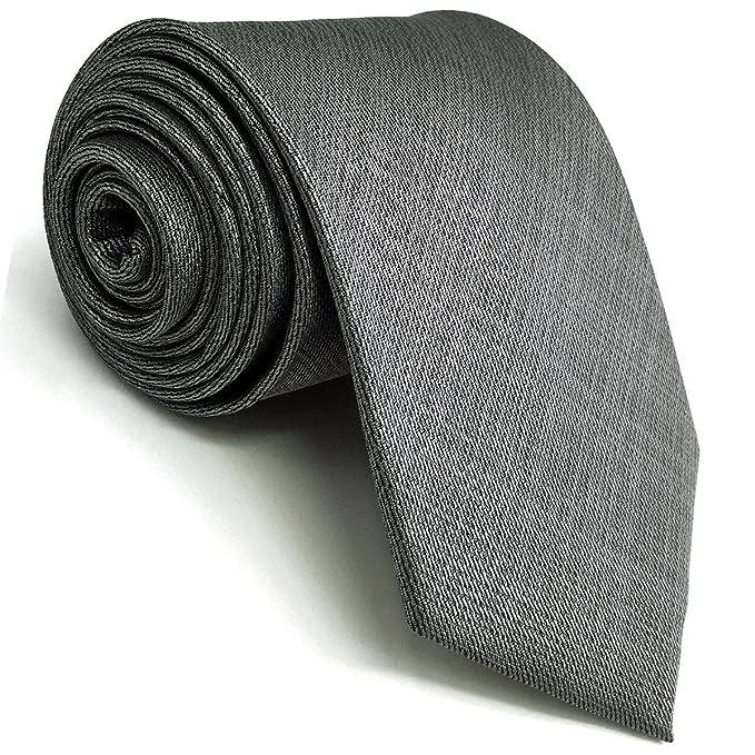 Shlax&Wing Corbata Para Hombre gris Extra lang Krawatte 160cm×9cm ...
