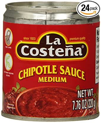 Amazon Com La Costena Chipotle Sauce 7 76 Ounce Pack Of 24 Grocery Gourmet Food
